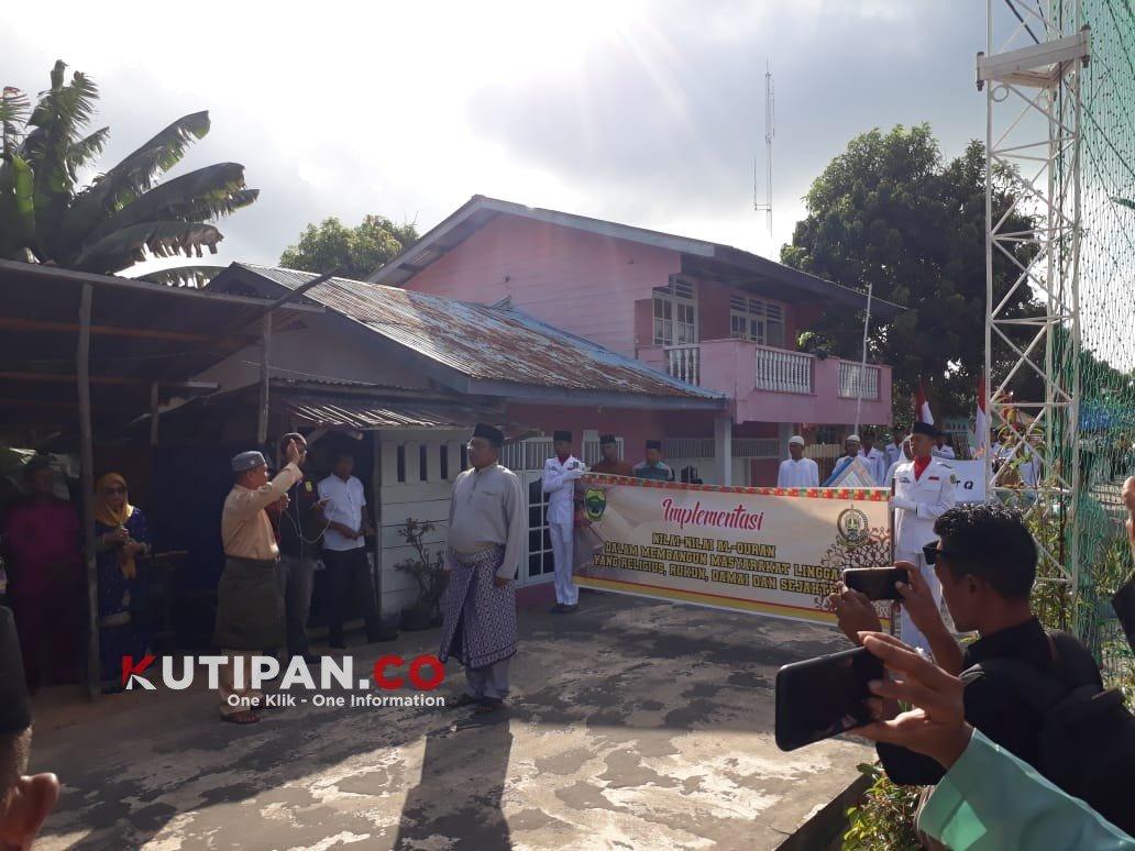 Foto Kecamatan Senayang, Kutipan lingga, Lepas peserta pawai taaruf, MTQ kabupaten, Wabup Lingga