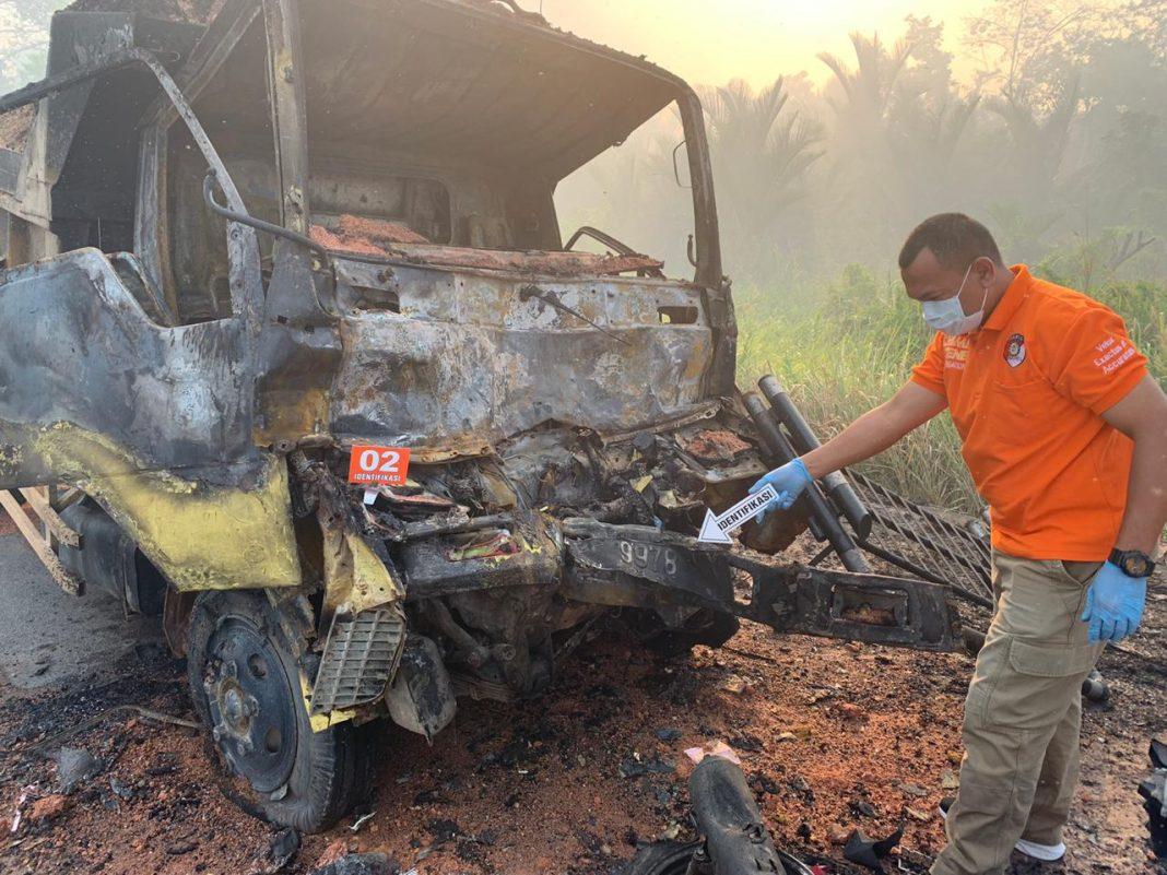 Foto #polreslingga, Berita Lingga, Karimun, Kecelakaan maut di Meral, Polres lingga, Tabrakan Maut di Meral