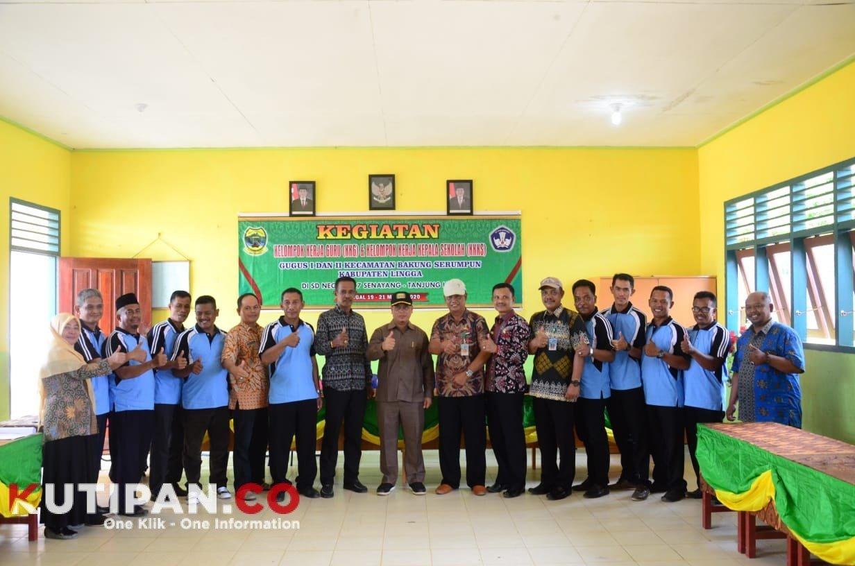 Foto Buka Giat KKG dan KKKS di Bakung Serumpun, Kutipan lingga, Wabup Lingga