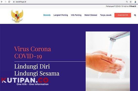 Foto Covid-19, Menkominfo, situs resmi COVID-19, Update Covid-19, virus corona