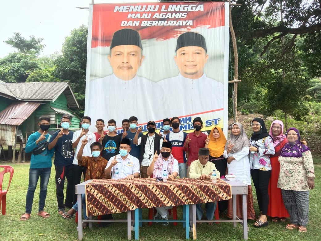 Foto Kampanye perdana Paslon BISA di Desa Mensanak Lingga