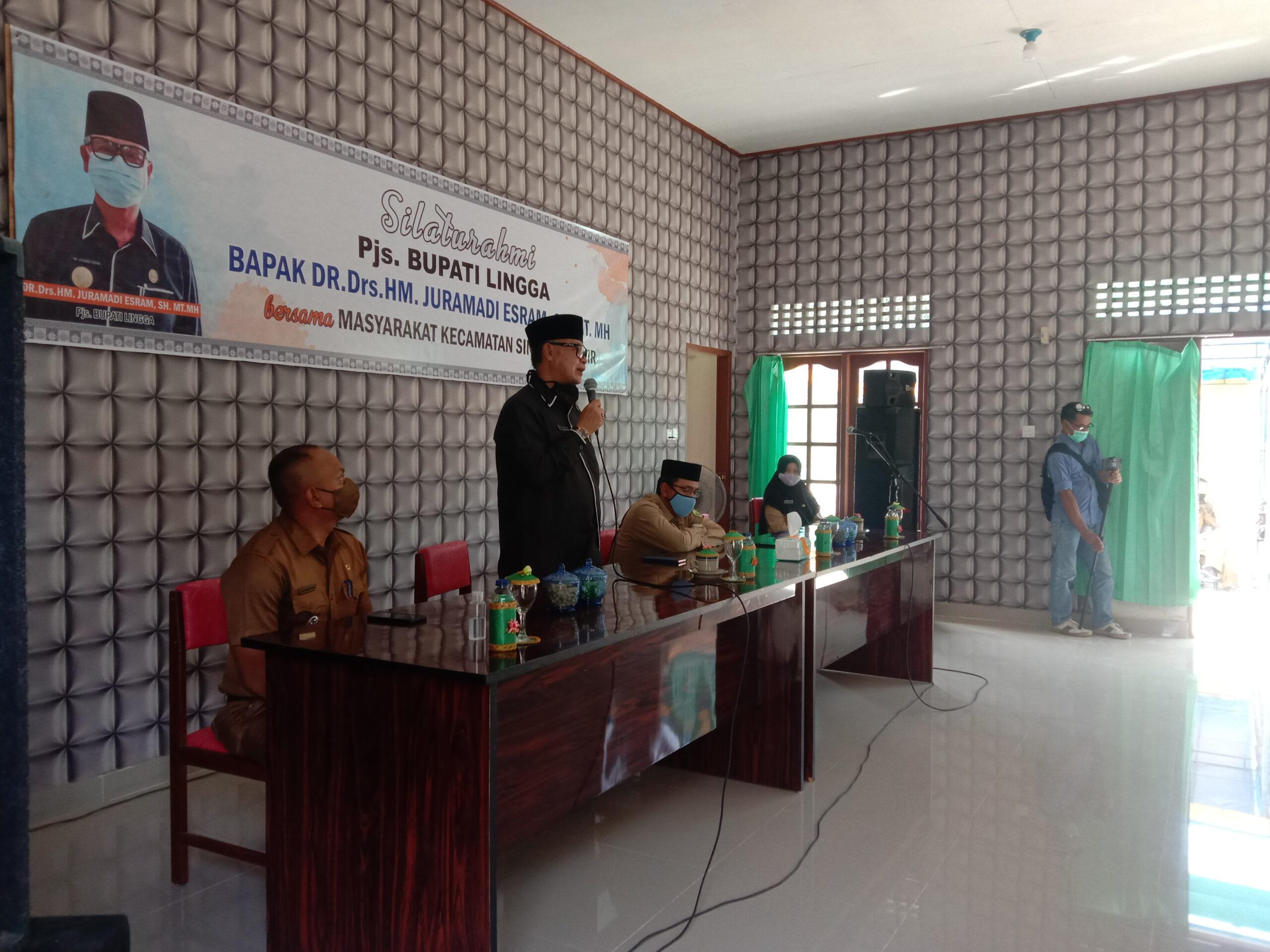 Foto Pjs Bupati Lingga kunjungi Kecamatan Singkep Pesisir.