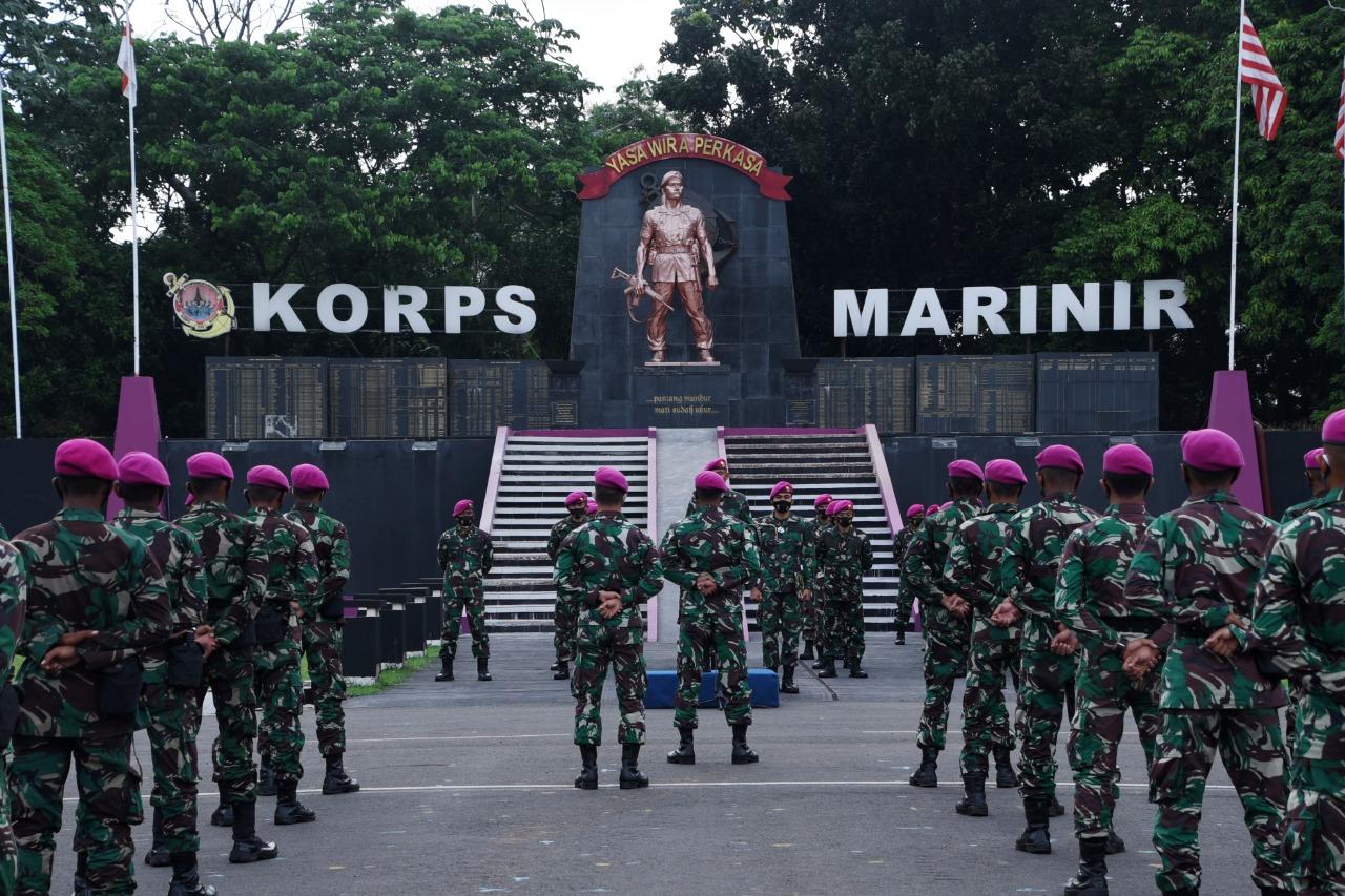 Sebanyak 116 Petarung Muda Korps Marinir yang terdiri dari 4 personel Paja AAL Angkatan LXV, 28 personel Baja Angkatan XXXIX/II, dan 84 personel Taja Angkatan XXXIX/II siap memperkuat jajaran Pasmar 1