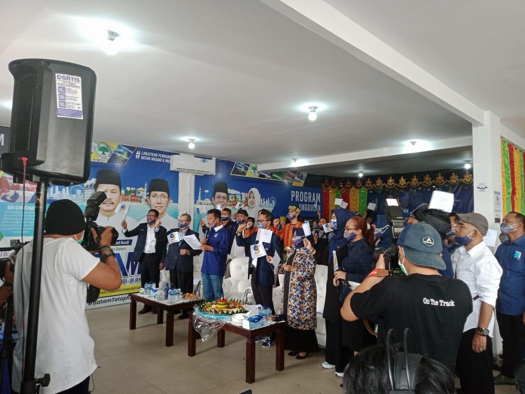 Foto amsakar, HUT ke-9 Partai Nasdem, Muhammad Kamalludin, Muhammad Rudi, Partai Nasdem