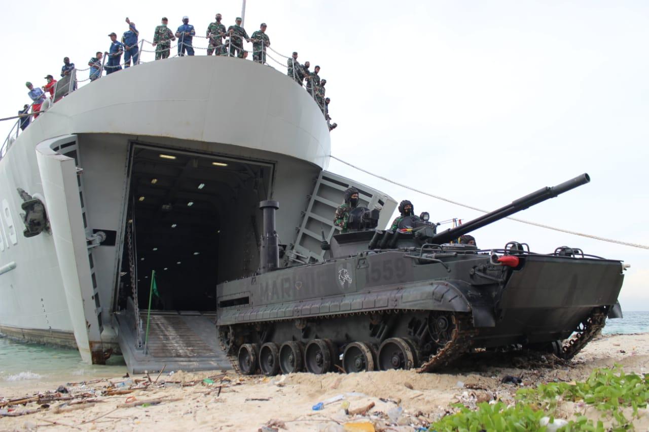 Latihan kapal Perang Terbaru TNI AL