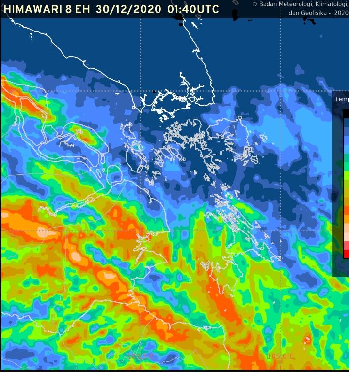Update cuaca Lingga 30 Desember 2020