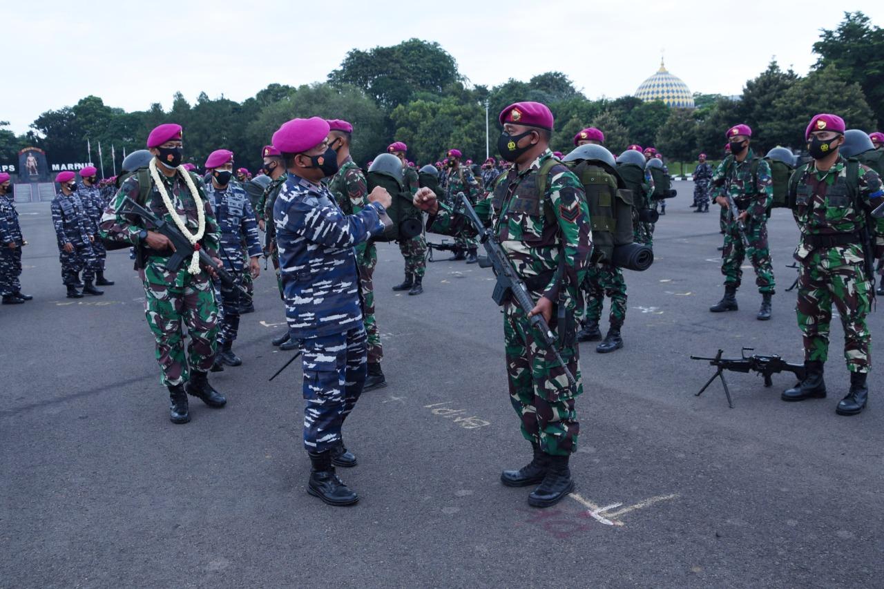 para personel mantan pengawak Kompi Komposit Natuna ini sebelumnya telah tiba kemarin sore di Jakarta