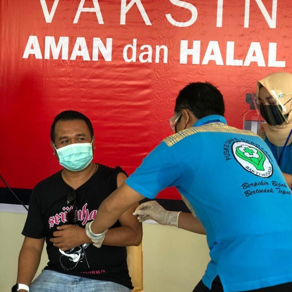 Ketua KNPI Lingga Ungkap Rasanya Disuntik Vaksin Corona