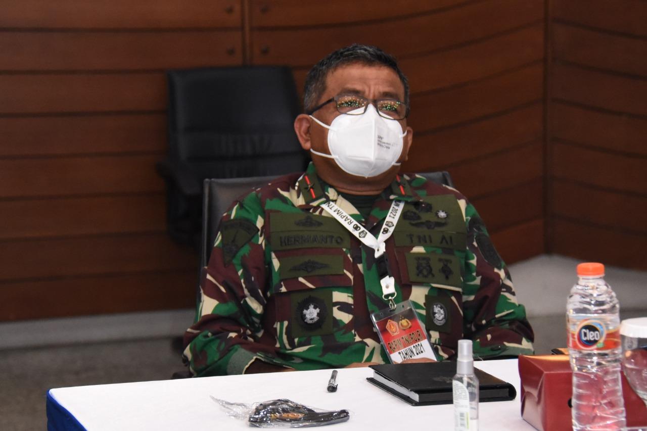 Danpasmar 1 Ikuti Rapim TNI-Polri Tahun 2021 Secara Virtual