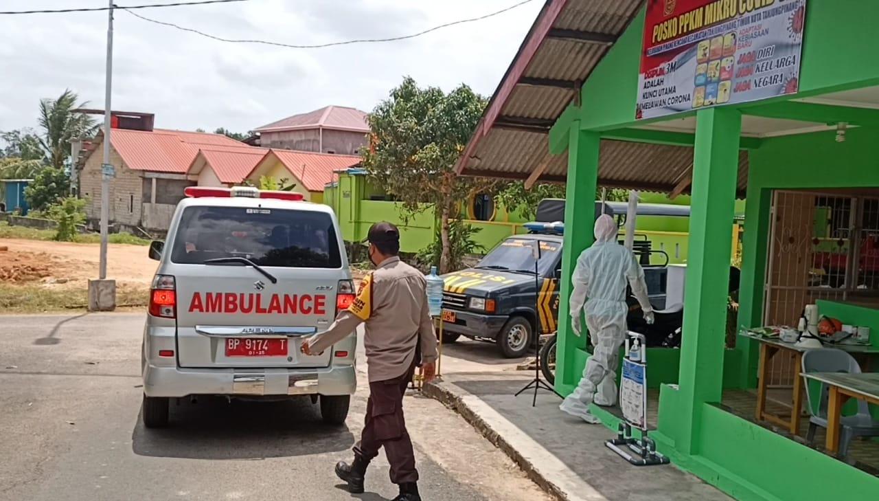 Polsek Tanjungpinang Timur Bersama Kecamatan Dirikan Posko PPKM
