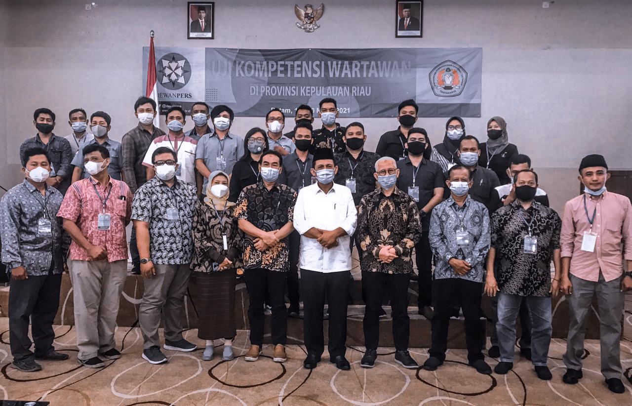 Peserta UKW yang Difasilitasi Dewan Pers di Batam