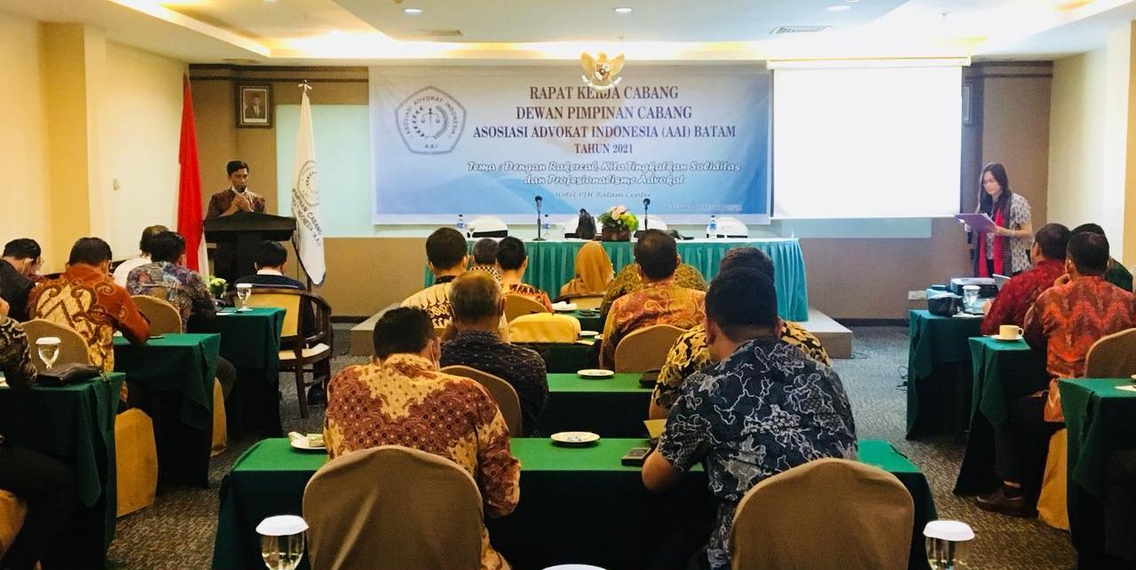 Rakercab Asosiasi Advokat Indonesia Kota Batam