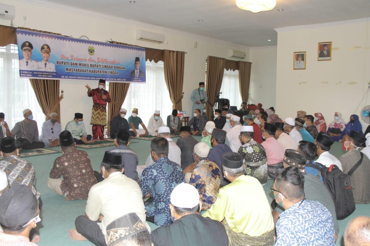 Foto doa bersama bupati lingga, Masyarakat Singkep, Nizar: Gelar Doa Bersama dan Silaturahmi Bersama Masyarakat Singkep