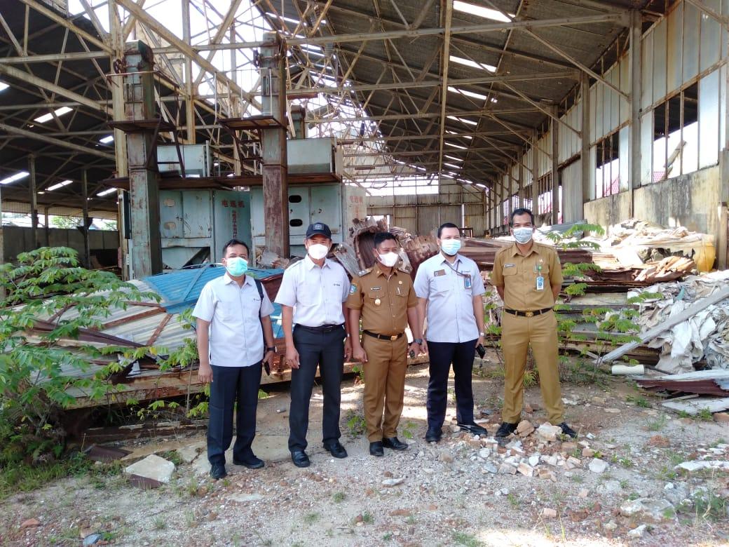 Foto Waka Unit PT Timah Tinjau Bangunan di Implasmen